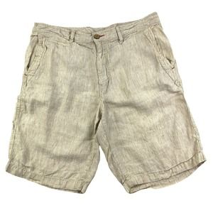 Tommy Bahama Relax Shorts Cream/Tan Linen Size 35